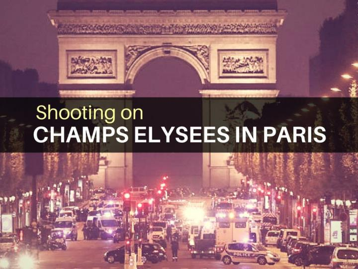shooting on champs elysees in paris n.