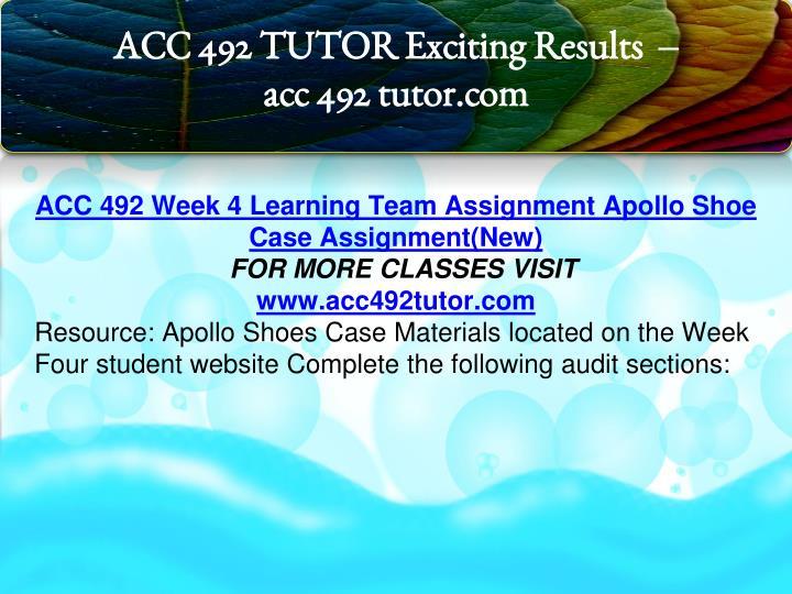 acc 492 week 5 learning team