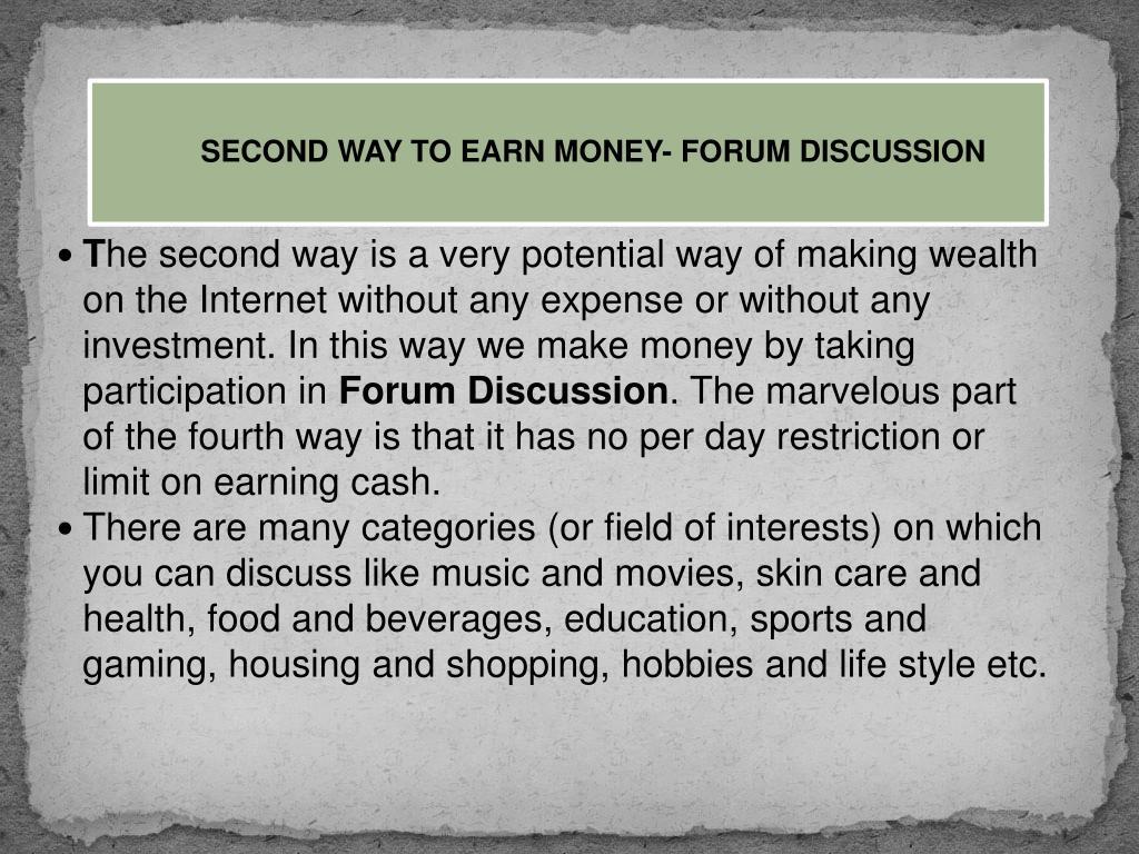 Forum Earn