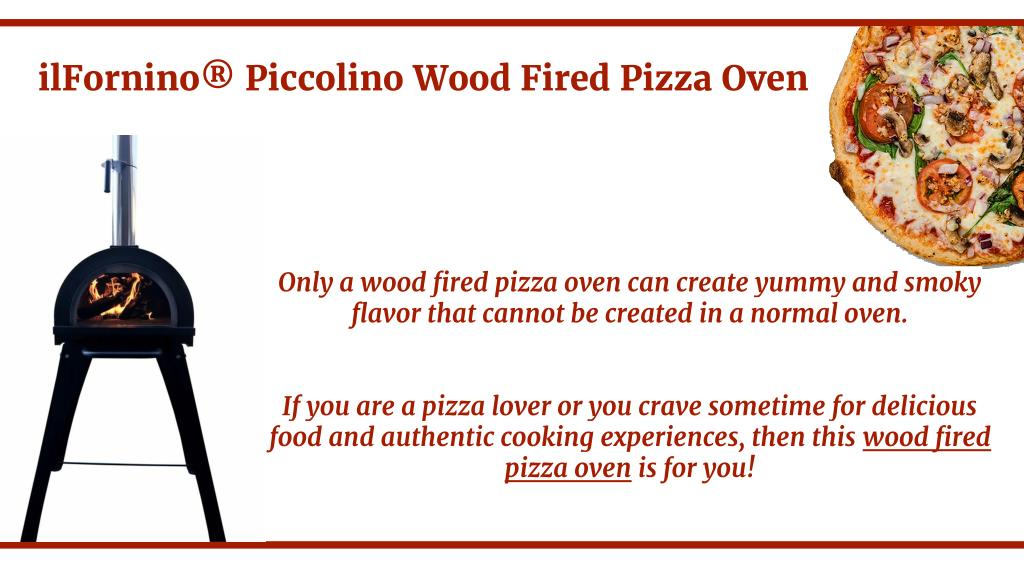 Ppt Ilfornino Piccolino Wood Fired Pizza Oven Powerpoint Presentation Id 7561827