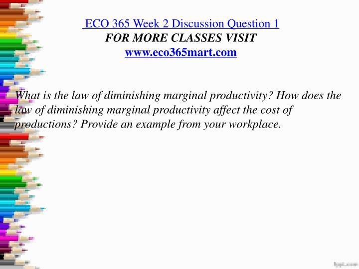 eco 561 week 2