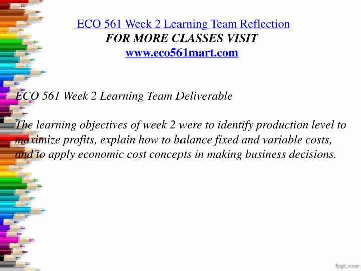 week 4 eco 561 learning team