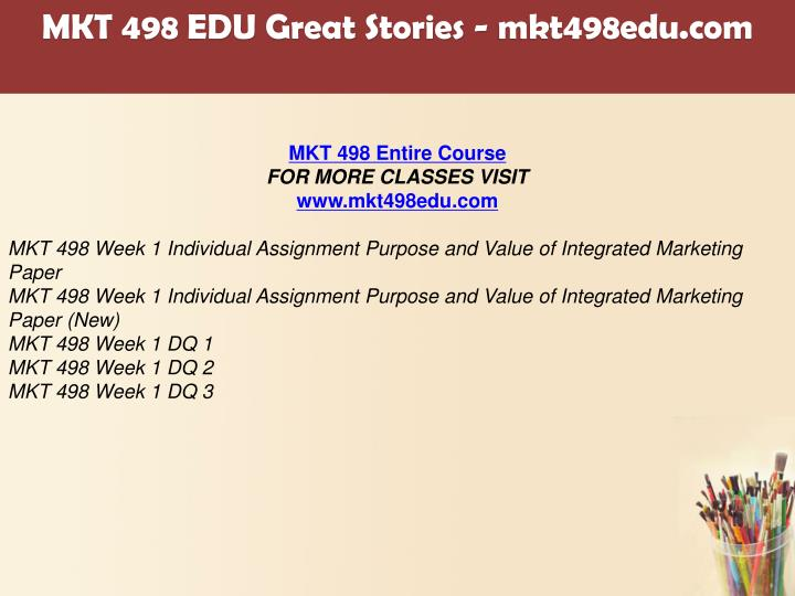 mkt 498 week 2 individual assignment