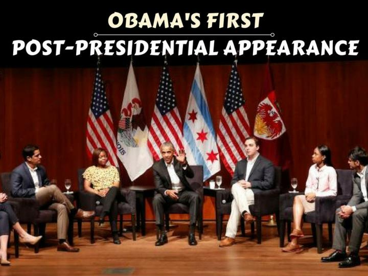 obama s first post presidential appearance n.