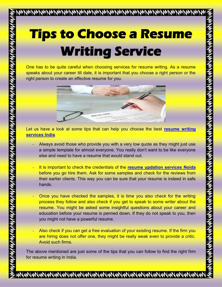 How to choose a resume writing service