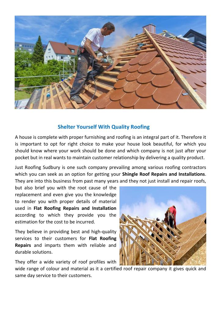 shelter yourself with quality roofing n.