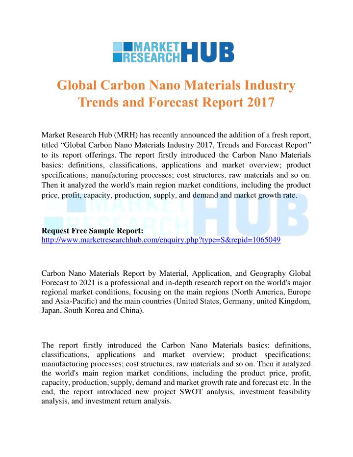 market overview advanced structural carbon products market