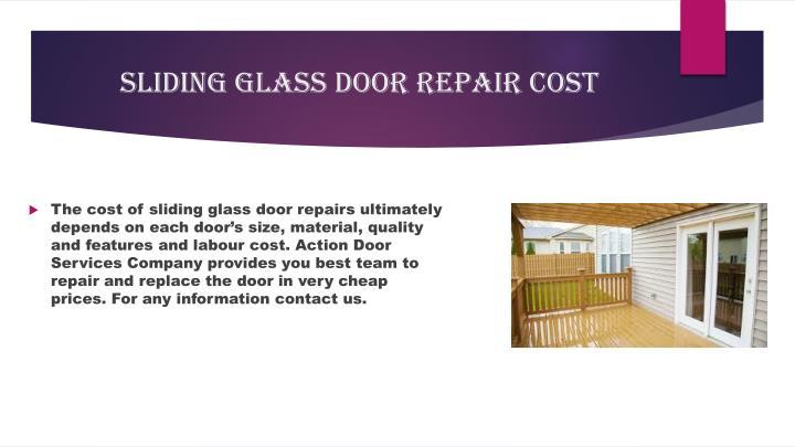Sliding Glass Door Repair Cost