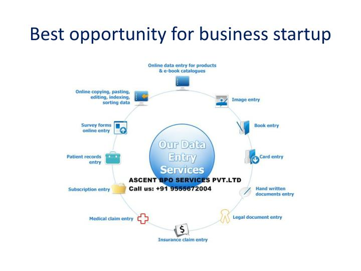best opportunity for business startup n.