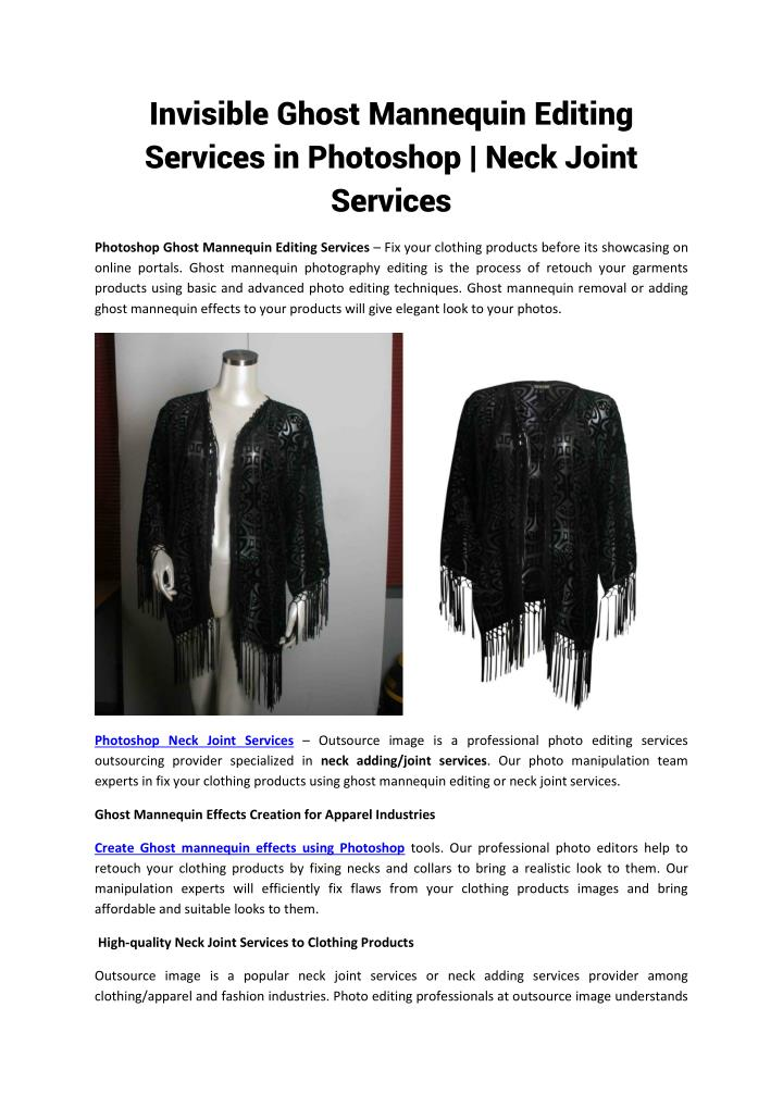 invisible ghost mannequin editing services n.