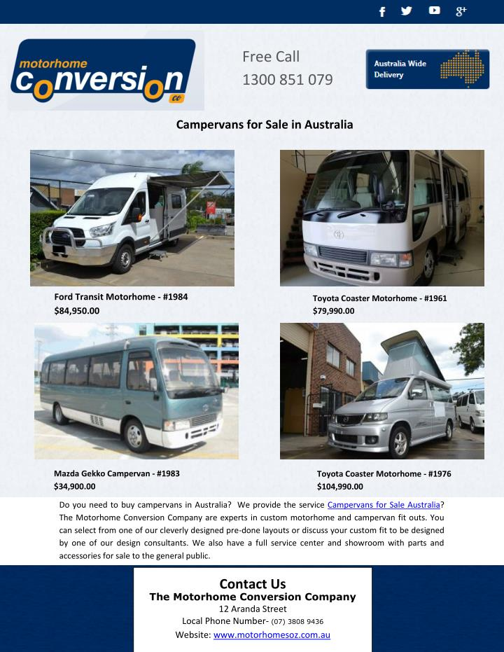 PPT - Campervans for Sale in Australia PowerPoint Presentation - ID