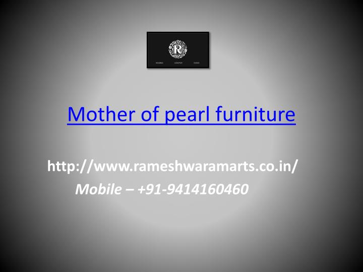mother of pearl furniture n.
