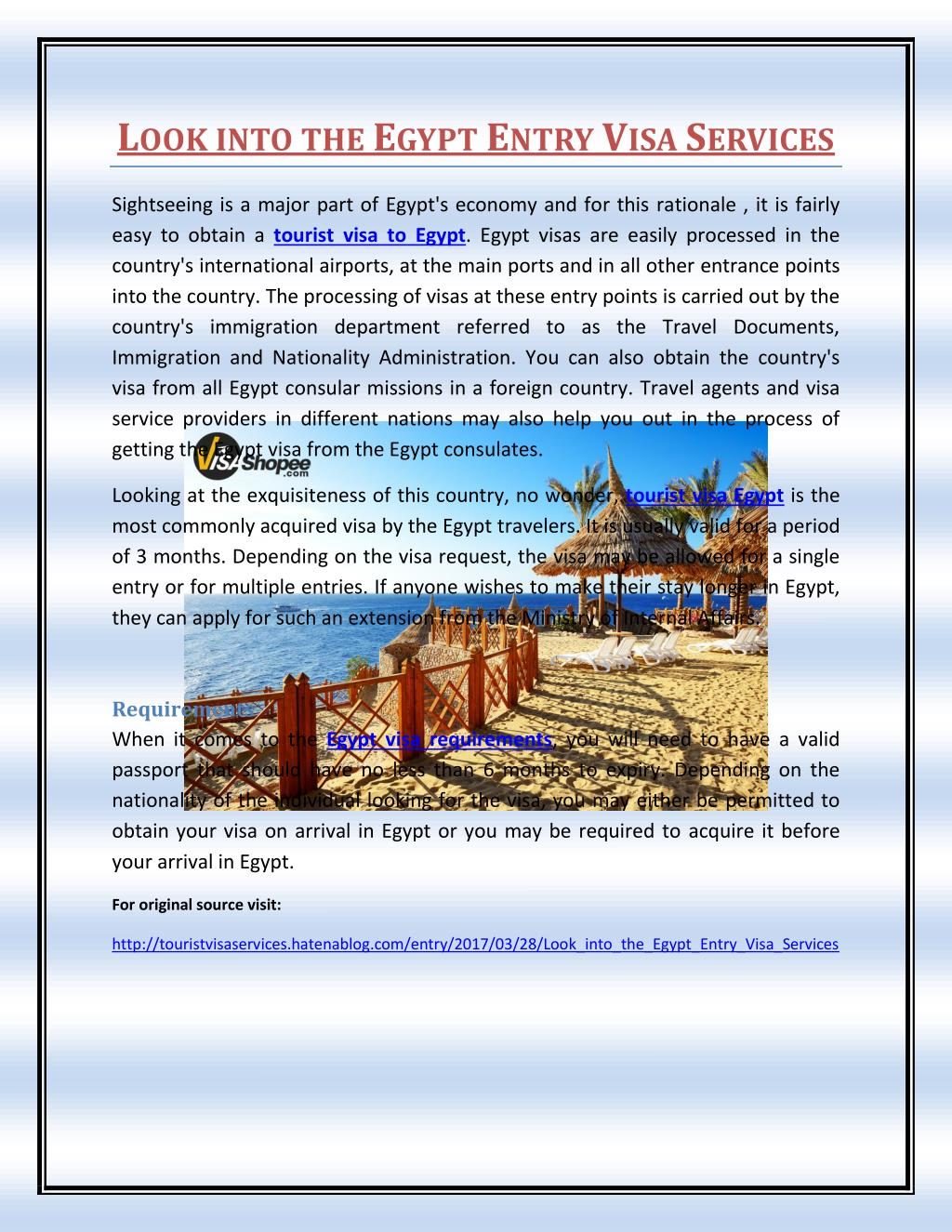 Ppt Look Into The Egypt Entry Visa Services Powerpoint Presentation Free Download Id 7565646