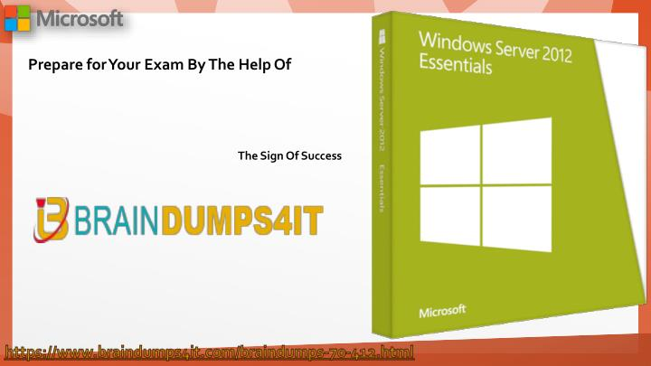 412 study guide Windows server 2012 - exam 70-412 study guide this collection of free study guides is for microsoft's 70-412 exam, configuring advanced windows server 2012 services these study guides are intended to be supplemental to your books and other study materials.