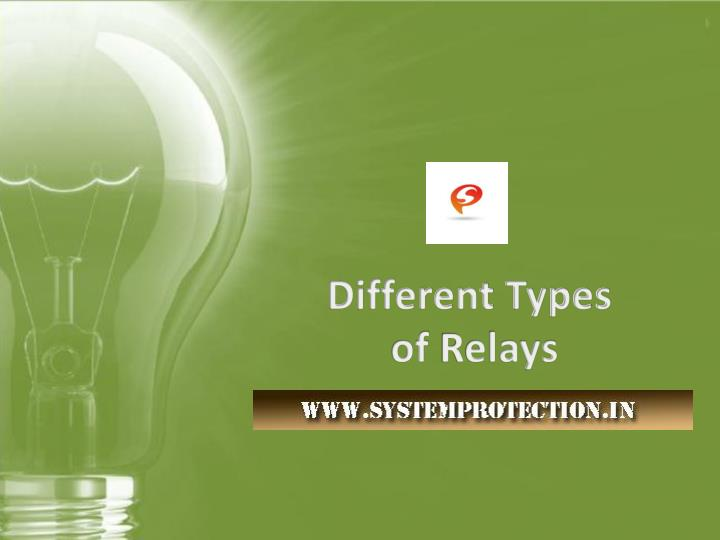 PPT - Different Types of Relays | Electrical Repairing Services ...