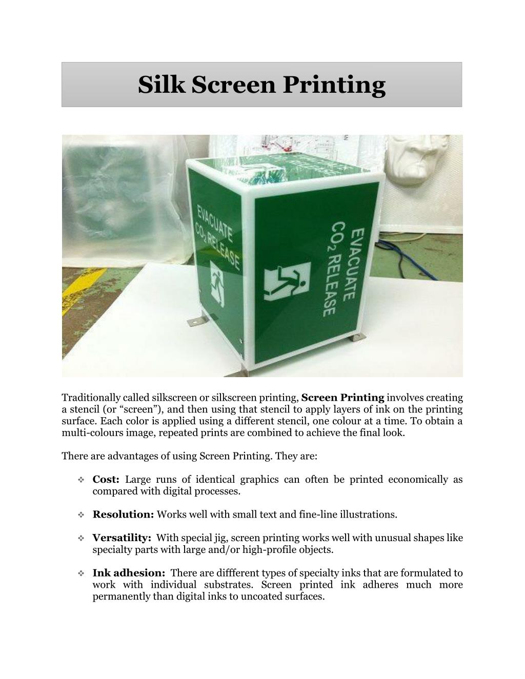 ppt silk screen printing powerpoint presentation id 7566558