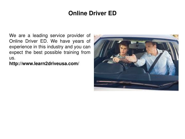 Online Drivers Ed >> Ppt Online Drivers Ed Powerpoint Presentation Id 7566633