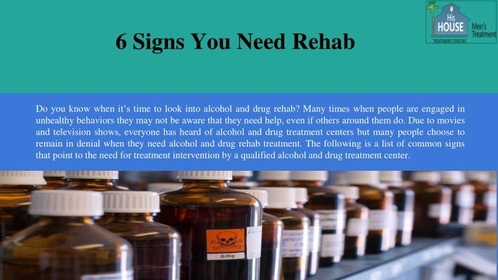 6 signs you need rehab n.
