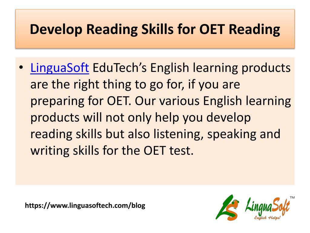 PPT - OET Reading Tips for Nurses PowerPoint Presentation