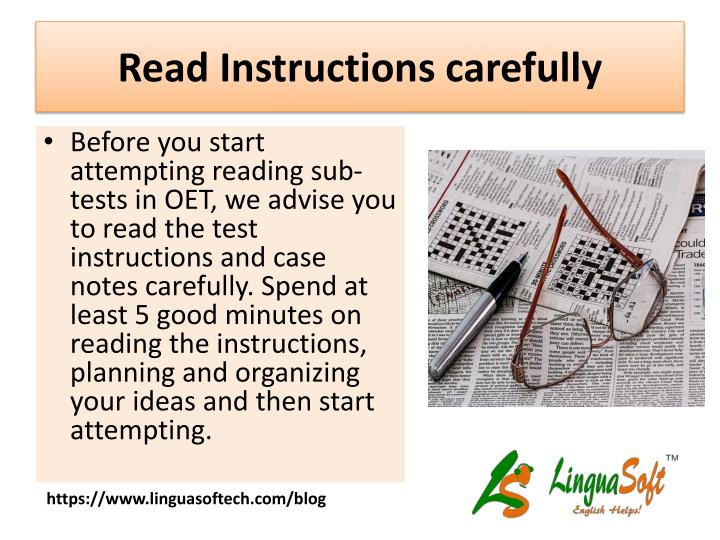 Ppt Oet Reading Tips For Nurses Powerpoint Presentation Id7567047