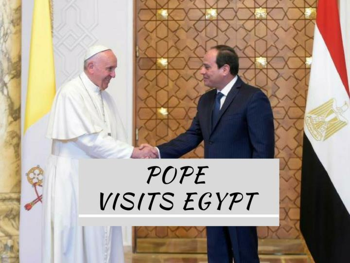 pope visits egypt n.