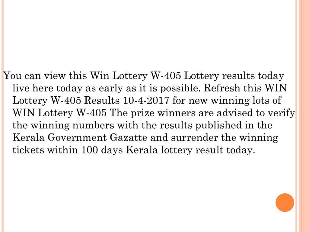 PPT - Kerala lottery for WIN W407 PowerPoint Presentation
