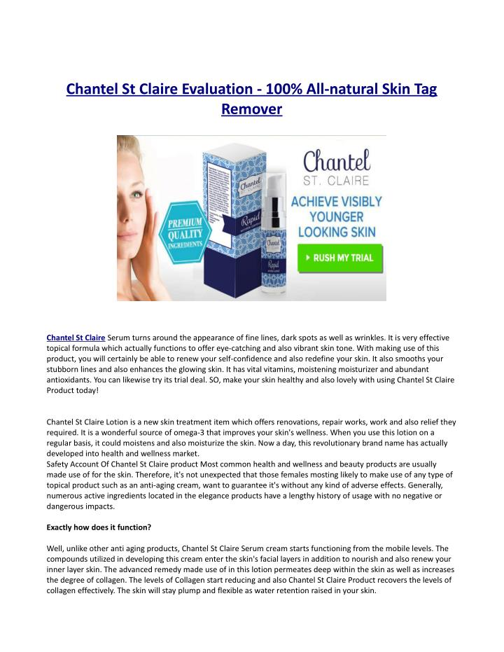 chantel st claire evaluation 100 all natural skin n.