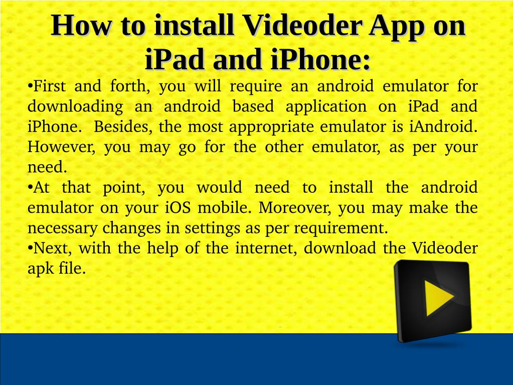 PPT - Step By Step Manual To Download Videoder App On IPhone