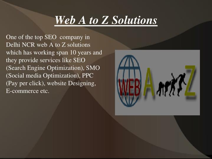 web a to z solutions n.