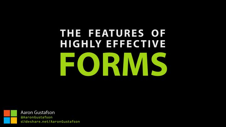 the features of highly effective forms n.