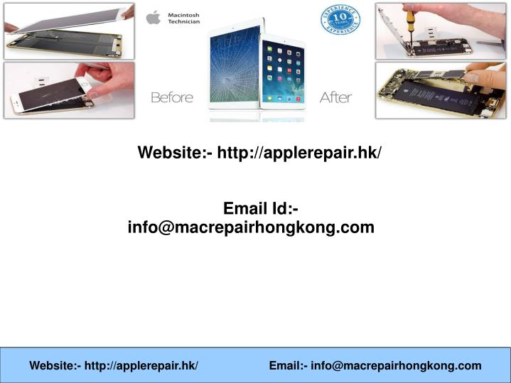 website http applerepair hk email n.
