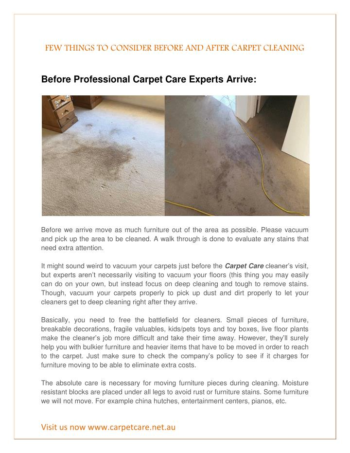 few things to consider before and after carpet n.