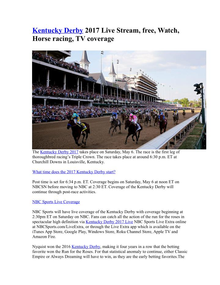 PPT - Kentucky Derby PowerPoint Presentation - ID:7569196
