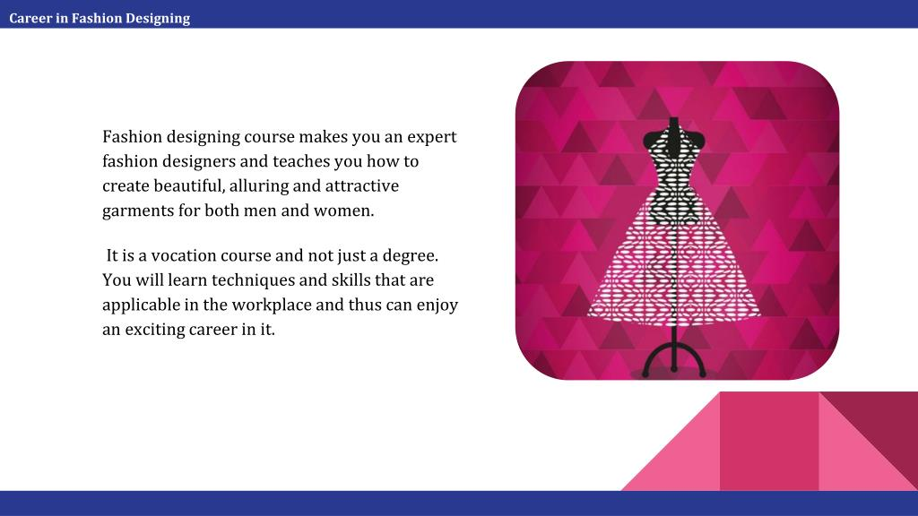 Ppt Career In Fashion Designing Powerpoint Presentation Free Download Id 7569327
