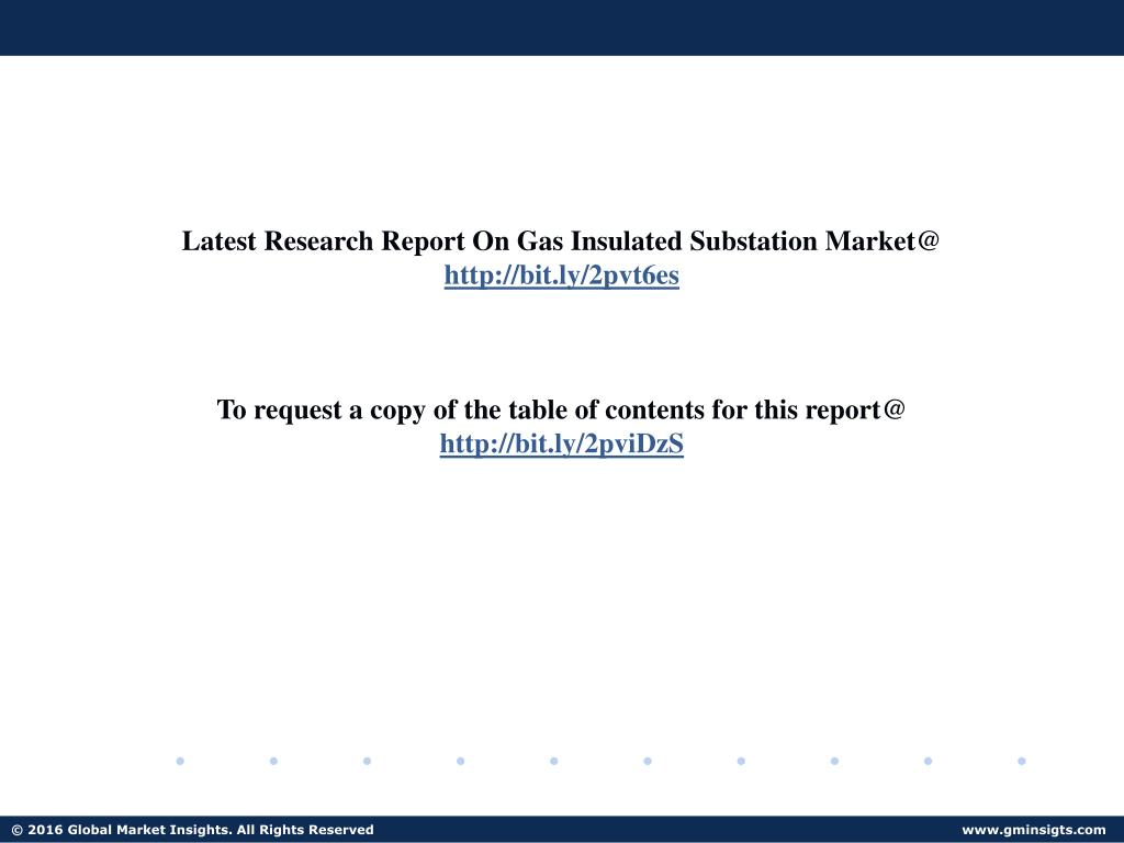 PPT - PPT for Gas Insulated Substation Market PowerPoint