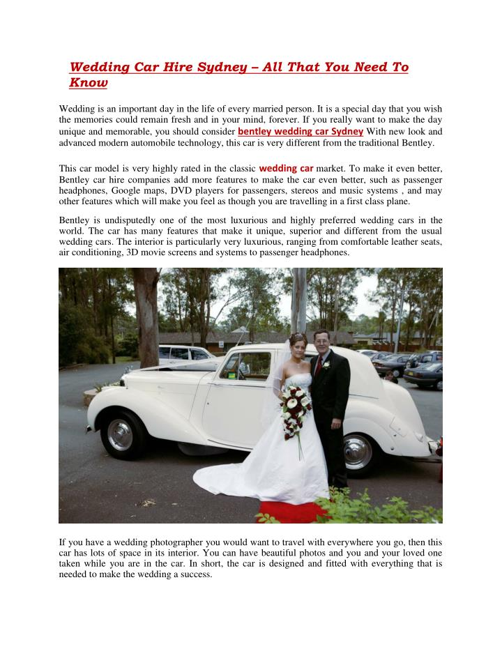 wedding car hire sydney all that you need to know n.