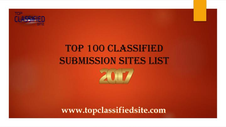 top 100 classified submission sites list n.