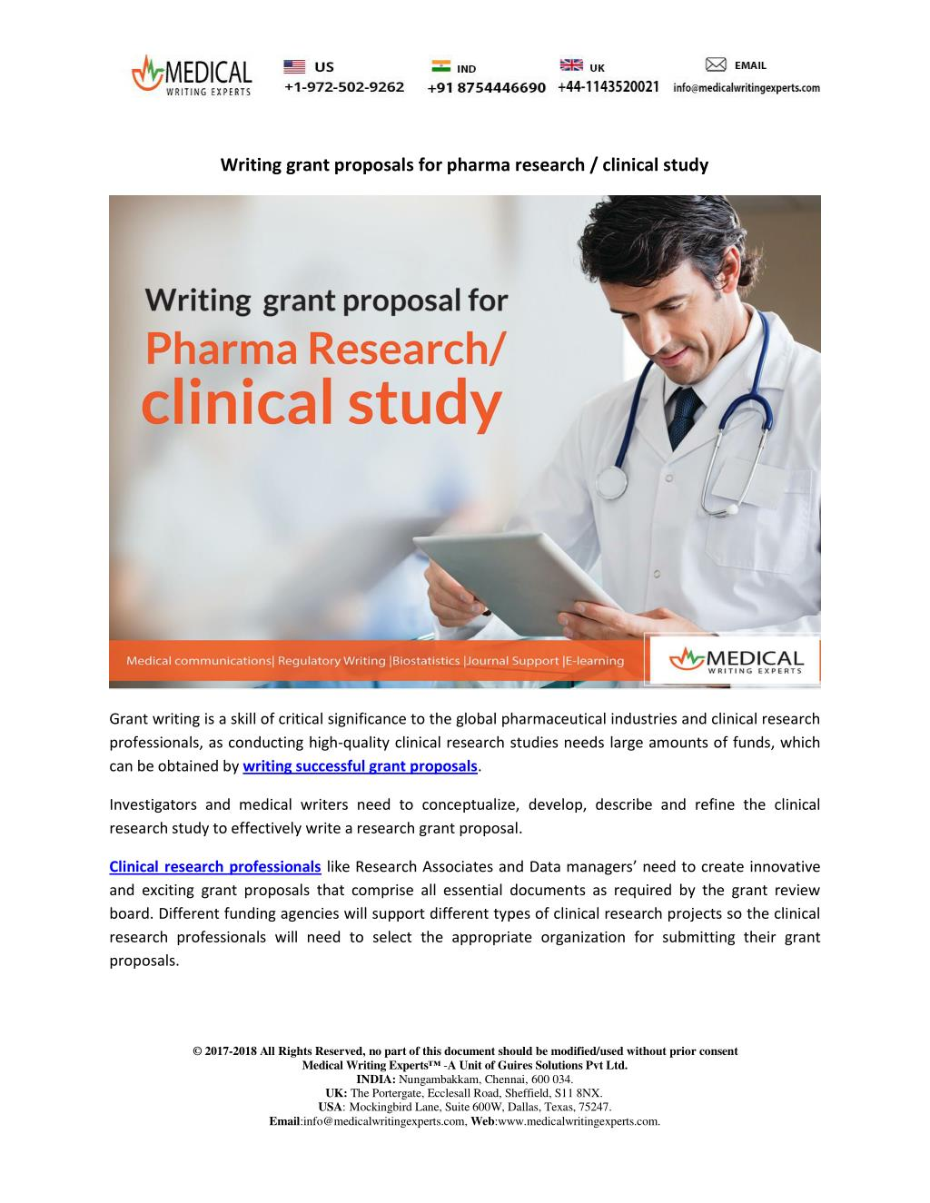 how to write a clinical research proposal