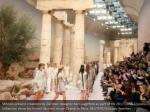 models present creations by german designer karl