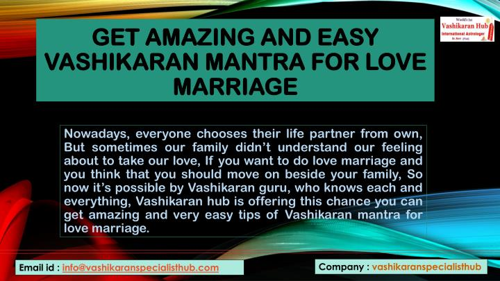 PPT - Get Amazing and easy Vashikaran mantra for love