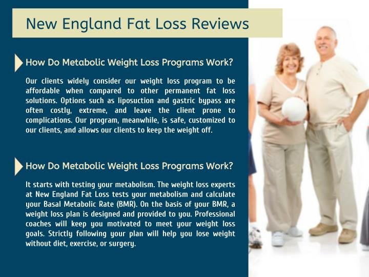 Fat loss programs that work are not