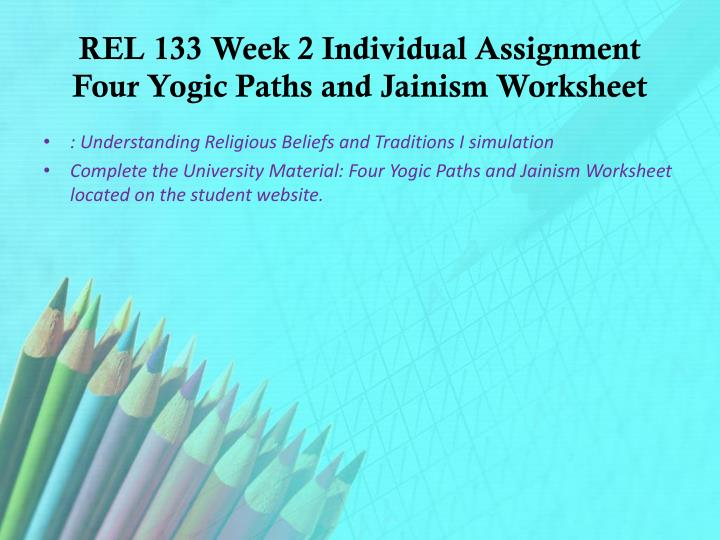 the four paths of yoga and jainism worksheet