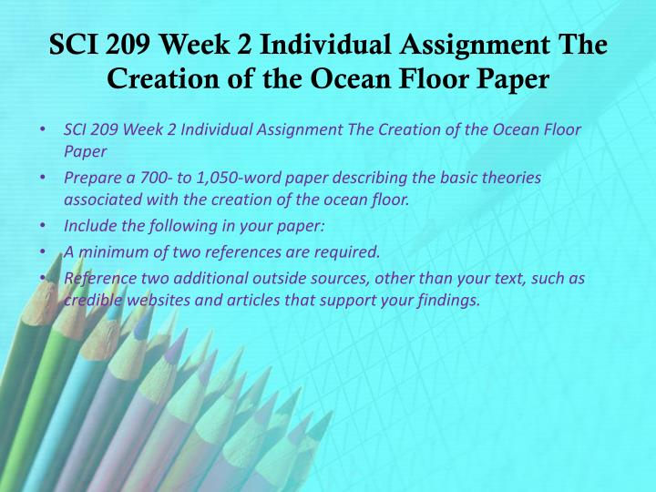 creation of the ocean floor paper
