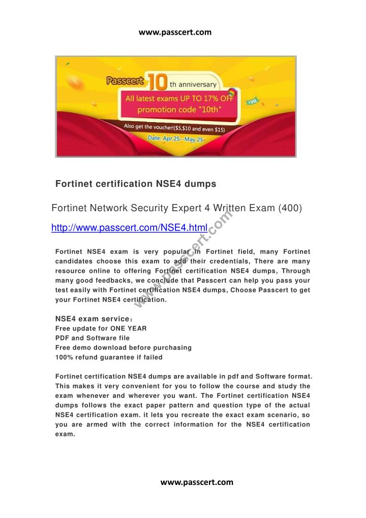 Ppt Fortinet Certification Nse4 Dumps Powerpoint Presentation Id