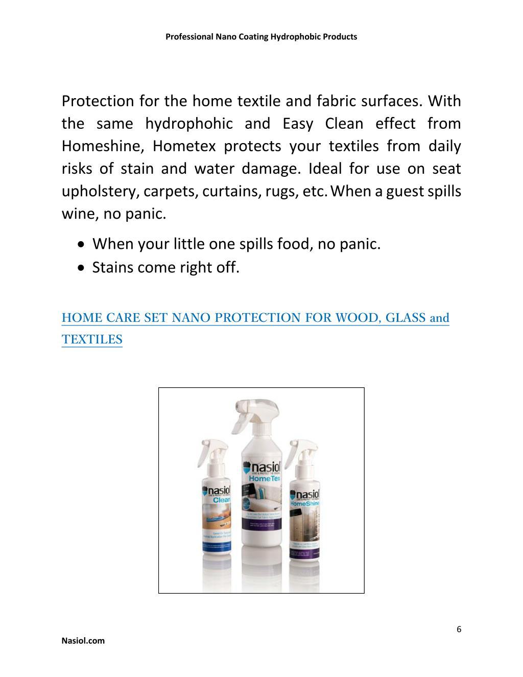 PPT - Professional Nano Coating Hydrophobic Products