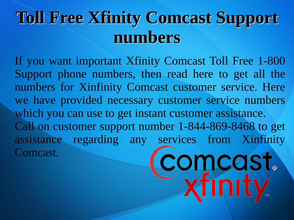 PPT - Xinfinity Comcast Customer Support PowerPoint