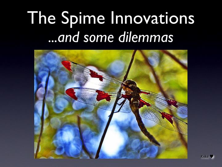 the spime innovations and some dilemmas n.
