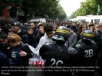 french crs riot police officers control high