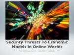 security threats to economic models in online