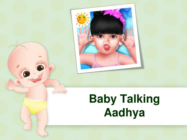Baby talking aadhya